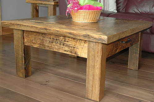 Reclaimed hemlock coffee and end tables