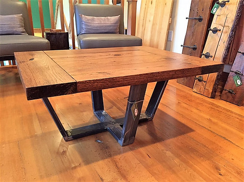 Reclaimed red elm coffee table
