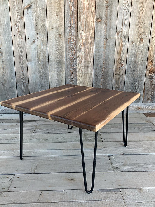 Walnut Coffee Table on Hairpin Legs