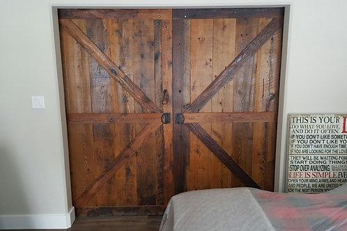 Reclaimed hemlock double barn doors