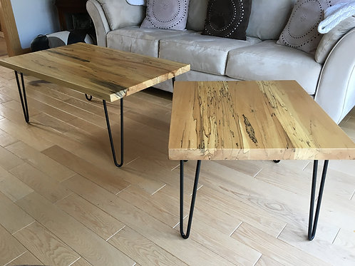 Rescued spalted maple side table (smaller table only)