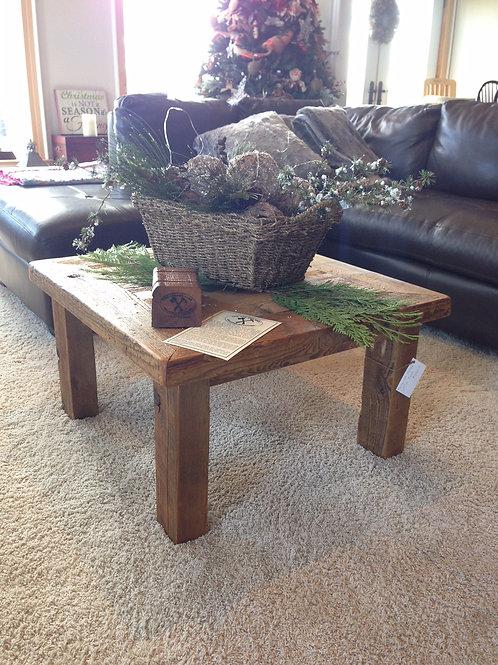 Reclaimed hemlock coffee table