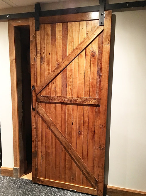 Reclaimed wormy maple barn door