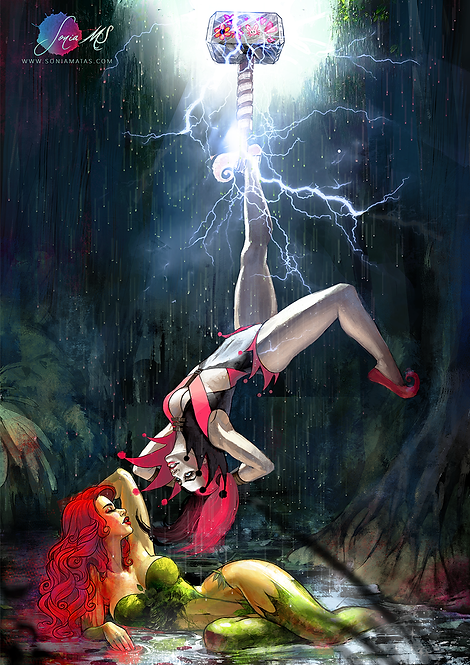 Poison Ivy & Harley Quinn A3