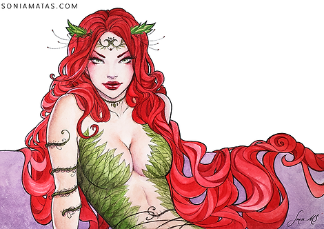 Poison Ivy watercolor 2 [Mini-Print]