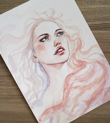 Watercolor portrait 2020 #07