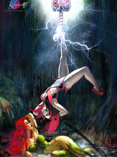 Commission Poison Ivy & Harley Quinn
