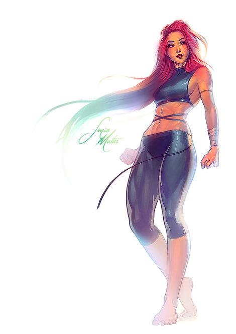 Rainbow haired girl 2021 A3