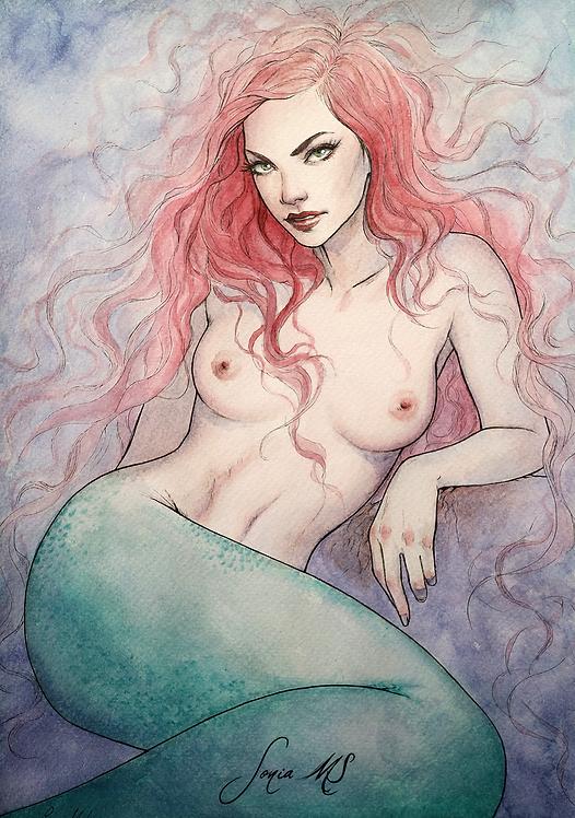 Mermaid 2020 watercolor [Print A4]