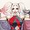Thumbnail: Harley Quinn watercolor A3