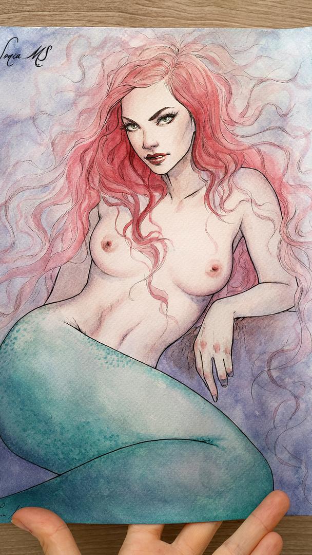 Watercolor mermaid 2020