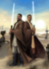 star wars, commission, digital, artwork, digital painting, personalizado, custom made, art, customized, light saber, tatooine, portrait