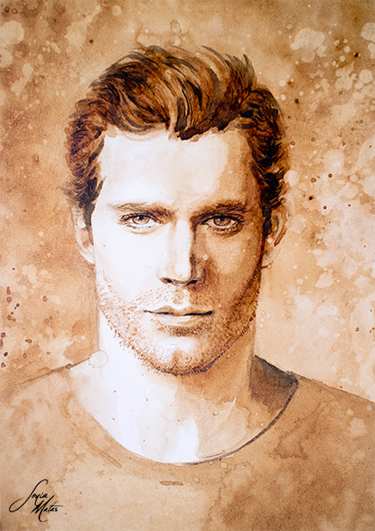 Henry Cavill (coffee painting) [Print A4]