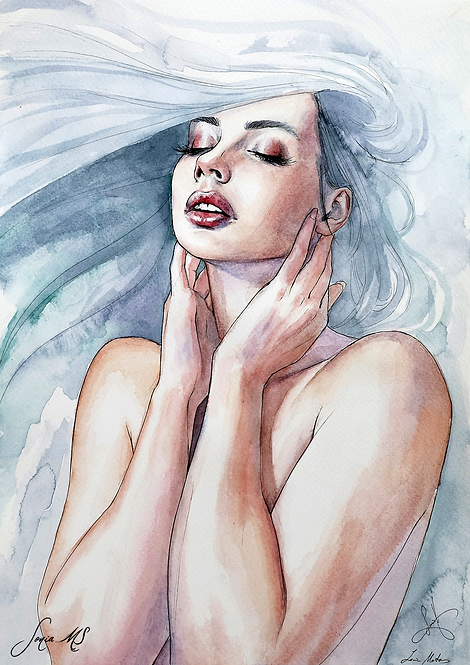 Watercolor portrait 2020 #16 [Mini-Print]