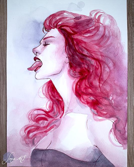 Vampire watercolor