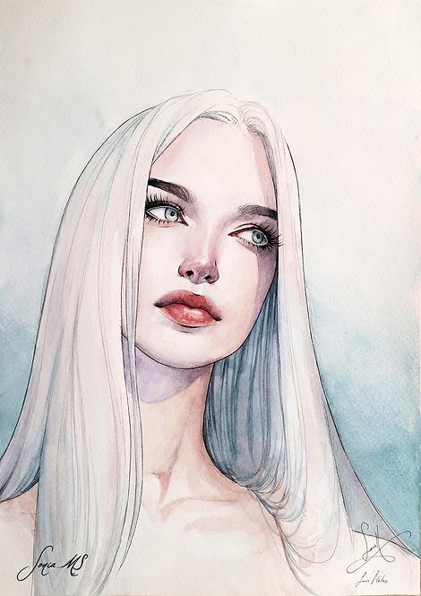 Watercolor portrait 2020 #17 [Mini-Print]