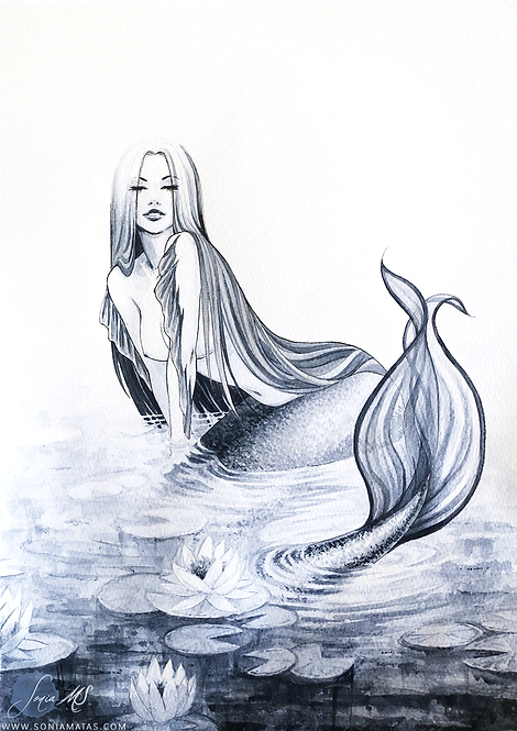 Mermaid of the lake [Mini-Print]