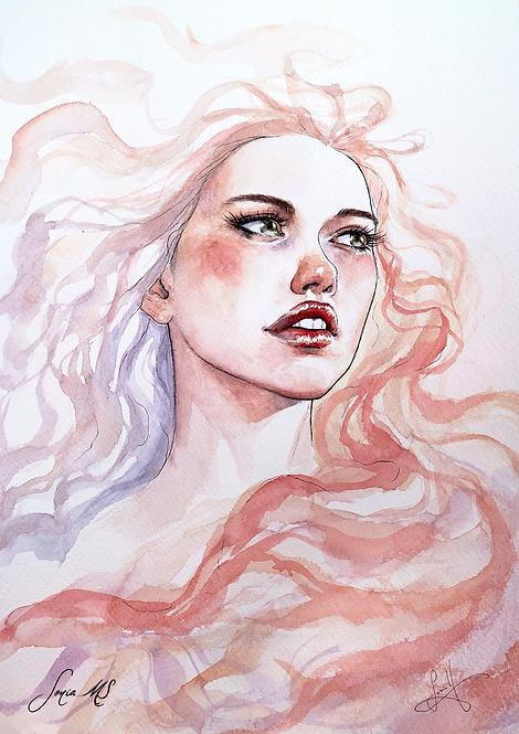 Watercolor portrait 2020 #07 [Print A4]