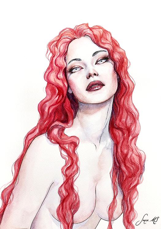 Watercolor portrait 2020 #15 [Print A4]