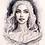Thumbnail: Khaleesi ink portrait [Mini-Print]