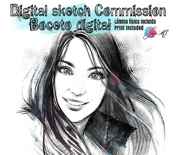 Digital Sketch Commission