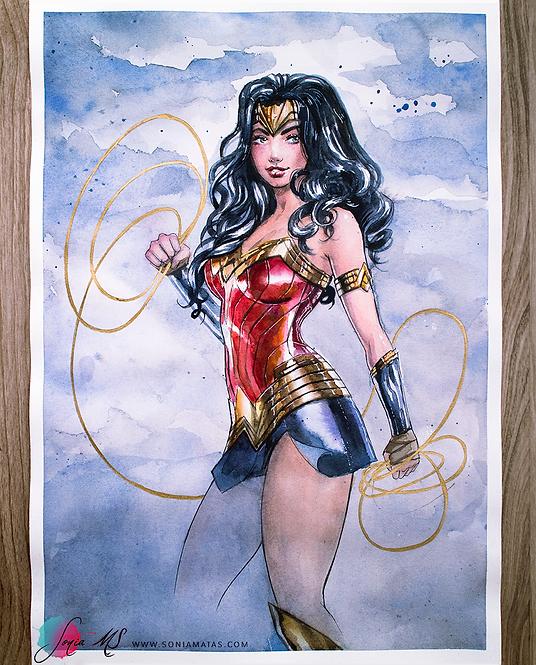 Wonder Woman 2021 watercolor