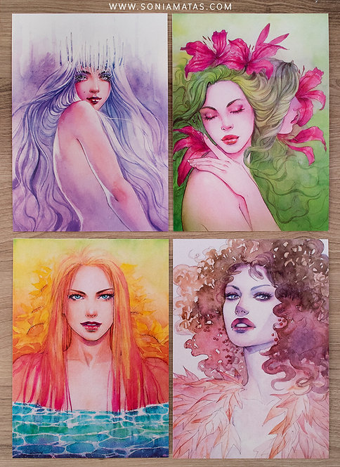 """""""Seasons"""" x4 Pack Deluxe [A5 size]"""