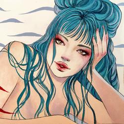 Blue hair 2020