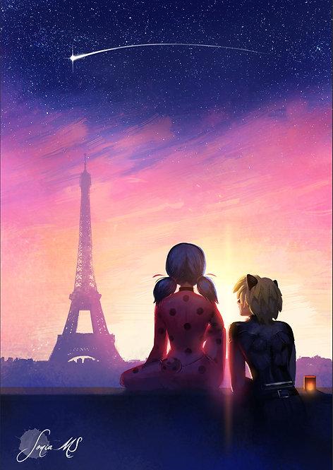 Ladybug & Chat noir [print A4]