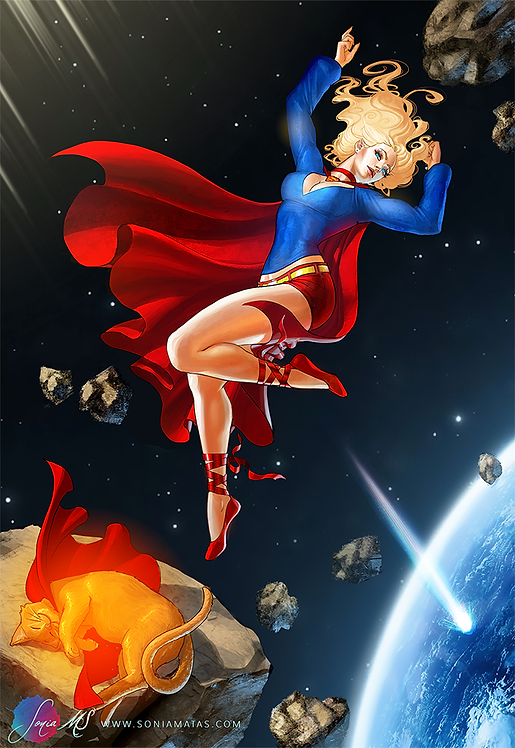 Supergirl & Streaky A4