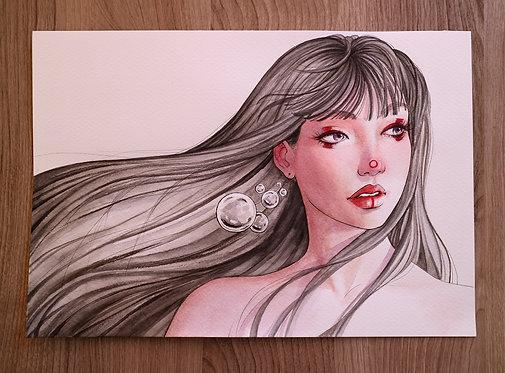 Watercolor portrait 2020 #21