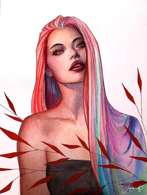 Rainbow hair [Print A4]