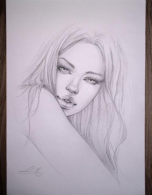 Graphite portrait 02