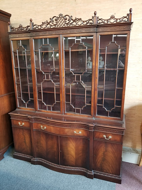 English Chippendale China Cabinet - Circa 1920