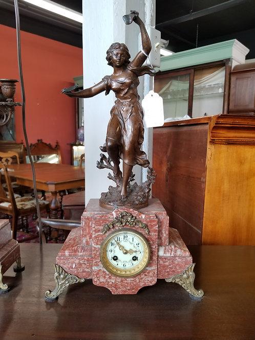 Clock Set w/ Candelabras Spelter – Circa 1920