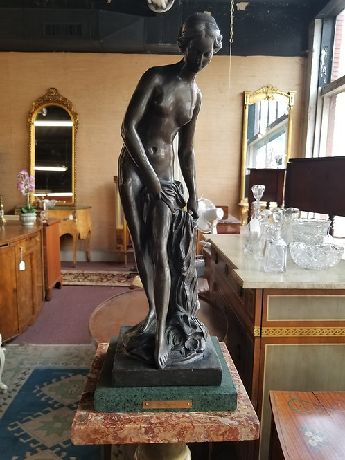 "Bronze Figure of ""The Bather"" 25"" Tall - Circa 1950's"
