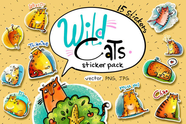 Sticker Pack: Wild Cats