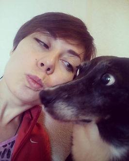 Ekaterina Putilova Zooza Art with a dog Nyusha photo