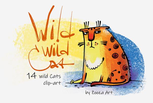 Wild Wild Cat - 14 illustrations