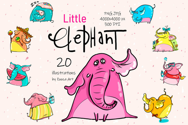 Little Elephant illustrations