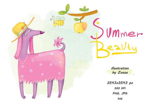 Summer Beauty - illustration