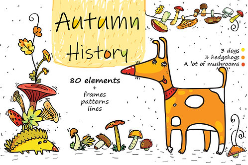 Autumn History - mushroom collection