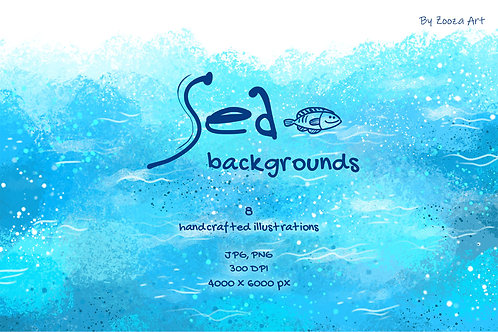 Abstract Sea backgrounds
