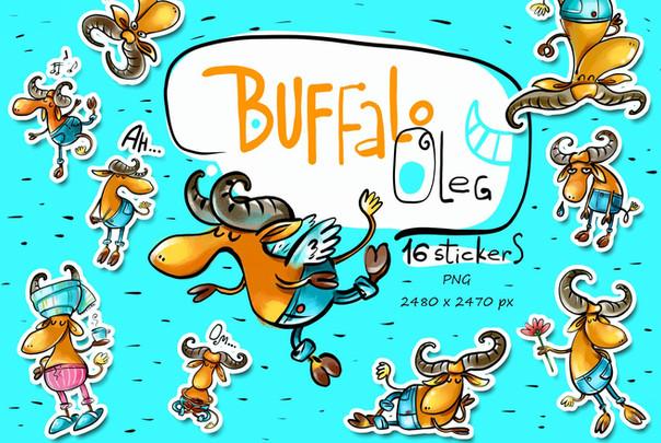 Buffalo Oleg - sticker pack