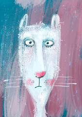"""From poster maker """"Serious cat portrait"""""""
