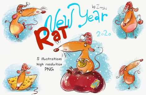 New Year Rat