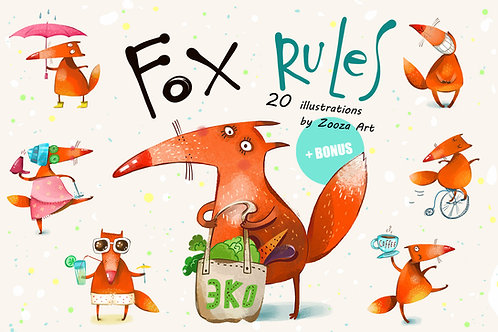 Fox Rules: 20 illustrations and 2 posters