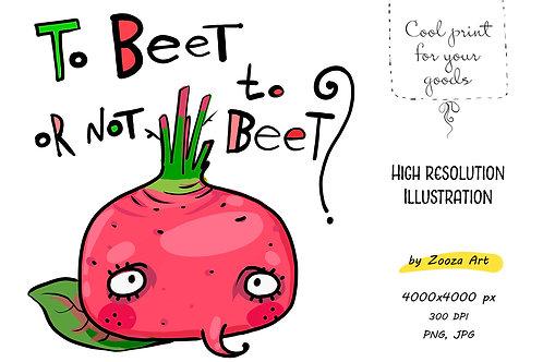 Little red beet - illustration