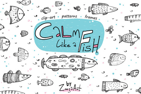 Calm like a fish - patterns