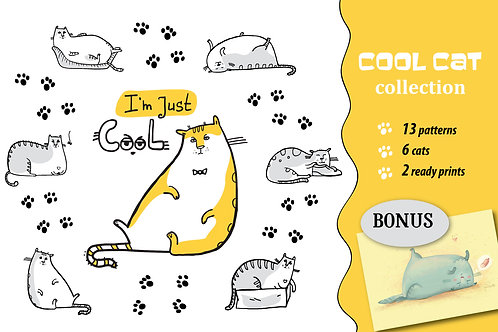 Cool Cat collection patterns, prints